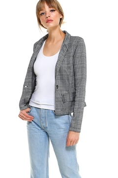 Miley and Molly Plaid Long Sleeve Blazer Jacket Top - Product List Image
