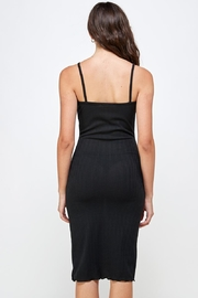 Miley and Molly Rib Knit Slit Front Cami Midi Dress - Other