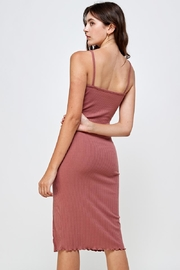 Miley and Molly Rib Knit Slit Front Cami Midi Dress - Side cropped