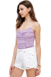 Miley and Molly Rouched Camisole Cami Tank Bodysuit - Front full body