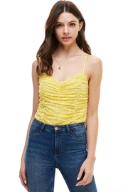 Miley and Molly Rouched Camisole Cami Tank Bodysuit - Side cropped