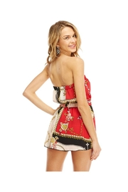 Miley and Molly Scarf Printed Tube Off Shoulder Romper - Side cropped