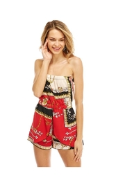 Miley and Molly Scarf Printed Tube Off Shoulder Romper - Product Mini Image
