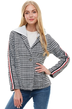 Miley and Molly Scuba Stripe Tape Hoodie Blazer Jacket - Product List Image