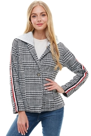 Miley and Molly Scuba Stripe Tape Hoodie Blazer Jacket - Product Mini Image