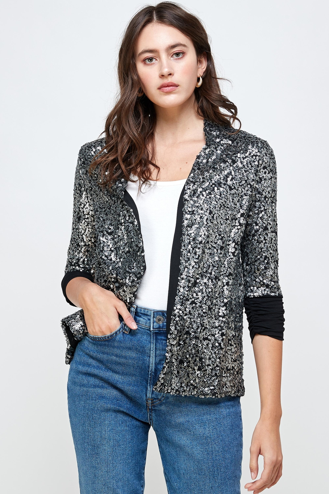 Kaii Sequins Cover Up Party Blazer Top - Main Image
