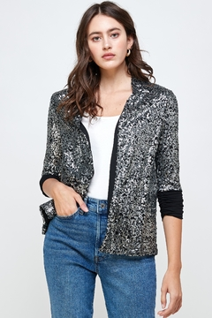 Kaii Sequins Cover Up Party Blazer Top - Product List Image