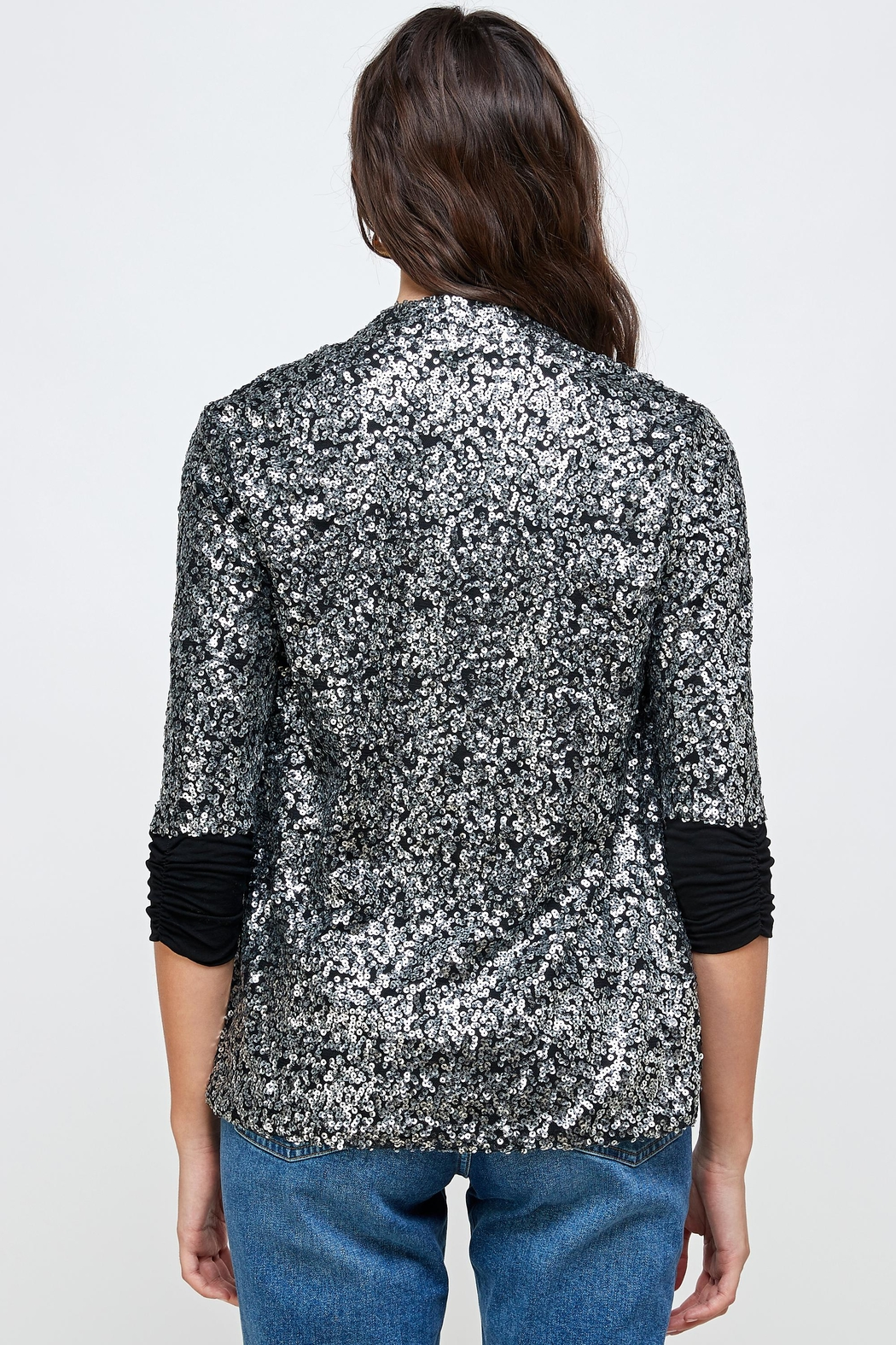 Kaii Sequins Cover Up Party Blazer Top - Side Cropped Image