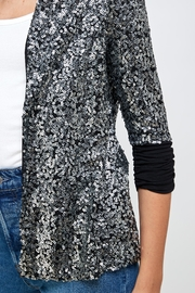 Kaii Sequins Cover Up Party Blazer Top - Front full body