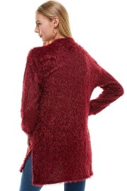 Miley and Molly Shaggy Loose Fit Long Sweater Cardigan - Back cropped
