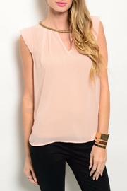 Miley and Molly Sheer Pink Blouse - Product Mini Image
