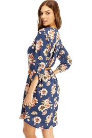 Miley and Molly Slate Blue Floral Belted Dress - Other