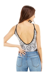 Miley and Molly Snake Print Mesh Inset Bodysuit - Back cropped