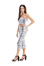 Miley and Molly Snake Skin One Shoulder Crop Top And Pencil Midi Skirt Set - Product Mini Image