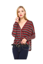 Miley and Molly Stripe Button Down Dolman Sleeve Cardigan - Product Mini Image