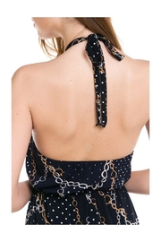 Miley and Molly Stripe Kimono Sleeve Jumpsuit - Back cropped