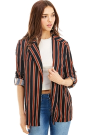 Miley and Molly Stripe Long Blazer Jacket Coat Blazer - Product Mini Image