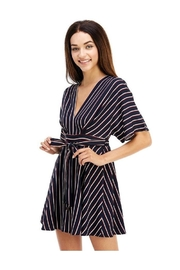 Miley and Molly Stripe V - Neck Dress - Product Mini Image