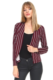 Miley and Molly Stripe Zipper Detail Blazer - Product Mini Image