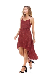 Miley and Molly Tank Inset Medallion Print Hi-Low Midi Dress - Product Mini Image