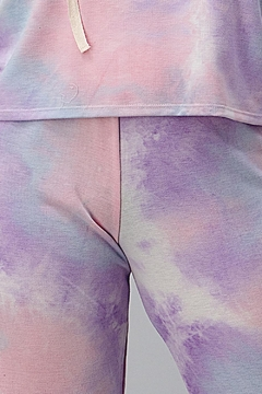 Miley and Molly Tie Dye Hooded Sweat Shirts Jogger Lounge Wear Set - Alternate List Image