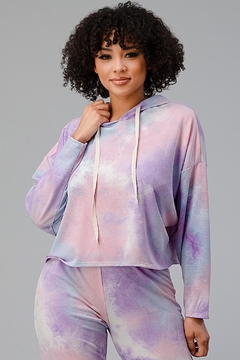 Miley and Molly Tie Dye Hooded Sweat Shirts Jogger Lounge Wear Set - Product List Image