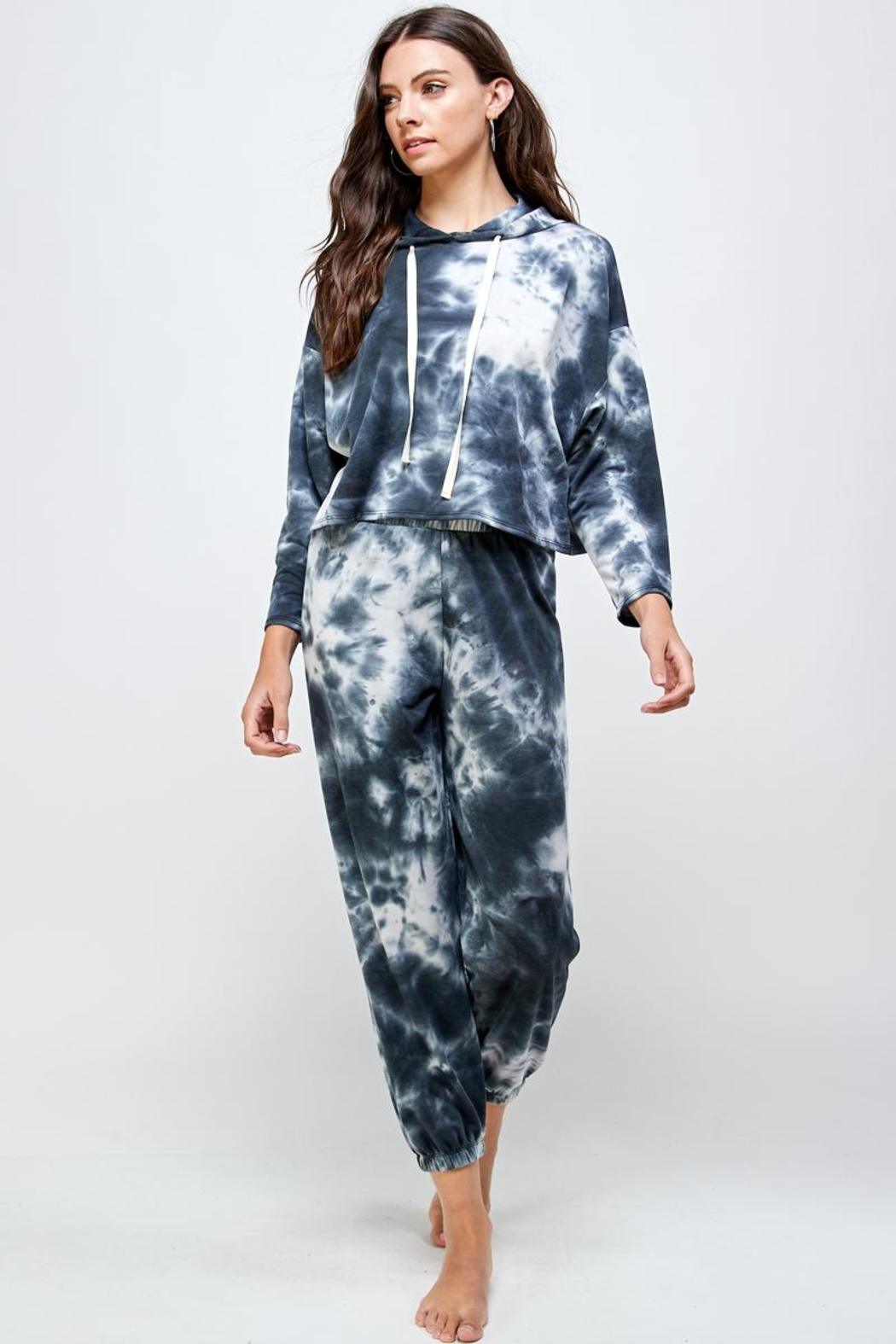 Miley and Molly Tie Dye Hoodie & Jogger Pants Set - Side Cropped Image