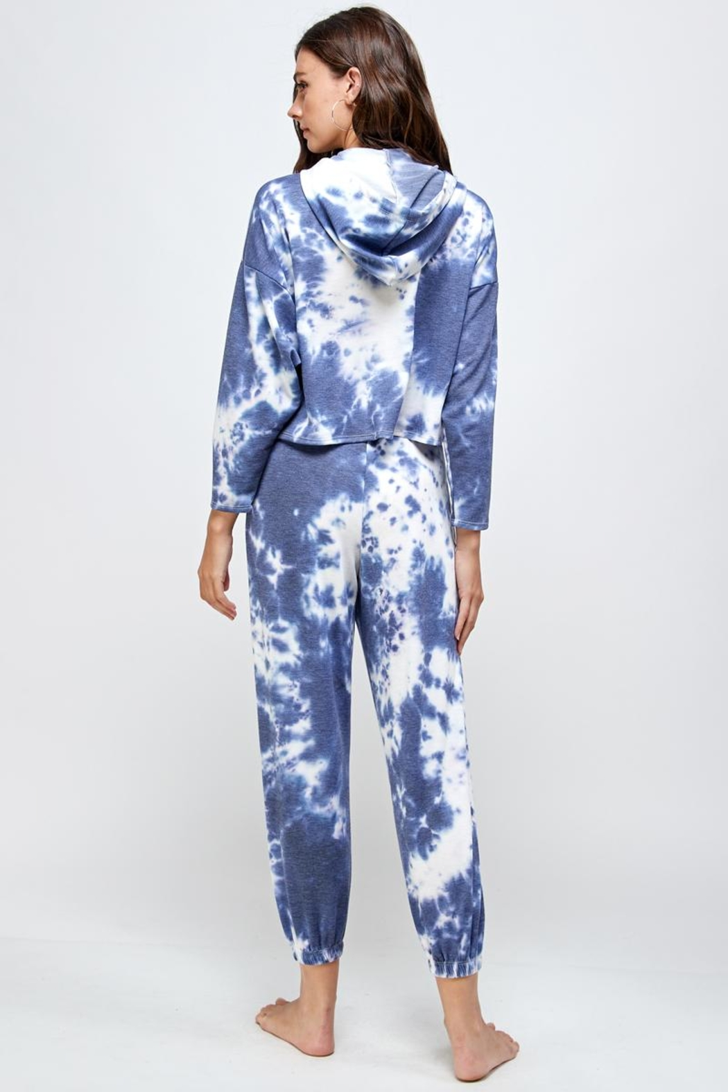 Miley and Molly Tie Dye Hoodie & Jogger Pants Set - Back Cropped Image