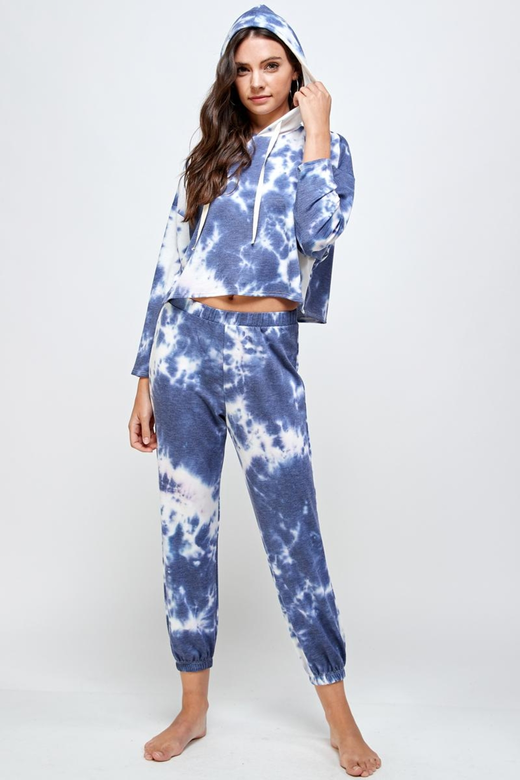 Miley and Molly Tie Dye Hoodie & Jogger Pants Set - Main Image