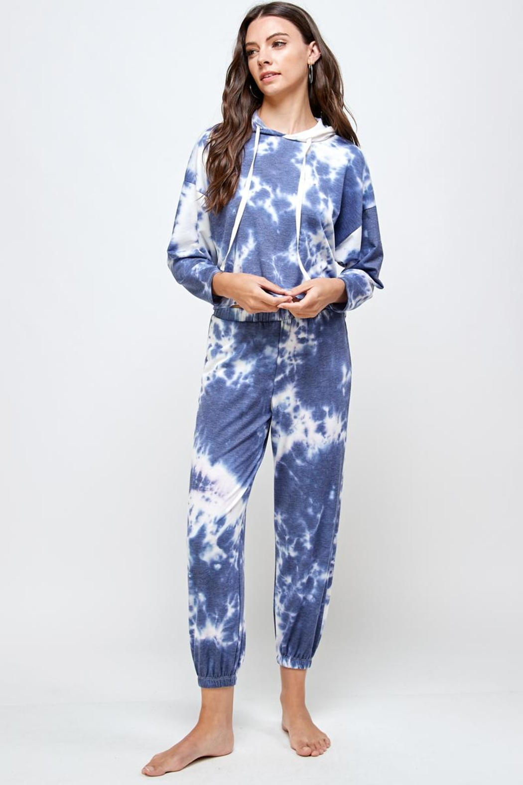 Miley and Molly Tie Dye Hoodie & Jogger Pants Set - Front Full Image