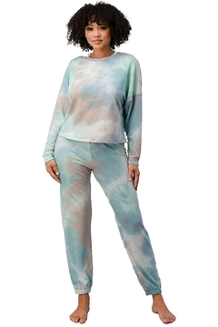 Miley and Molly Tie Dye Lounge Wear Set Jogger Pj Pajama Set - Product List Image