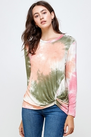 Miley and Molly Tie Dye Twisted Front Long Sleeve Top - Product Mini Image