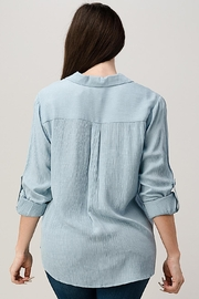 Miley and Molly Two Pocket Roll Up Sleeve Shirt Blouse Top - Side cropped