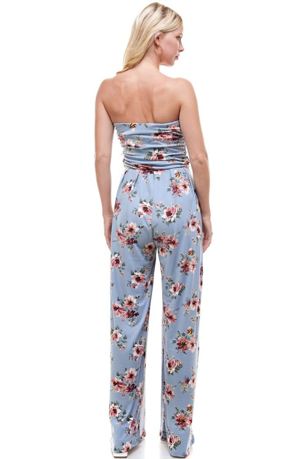 Miley and Molly Women Floral Strapless Jumpsuit - Side Cropped Image
