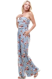 Miley and Molly Women Floral Strapless Jumpsuit - Front cropped