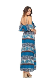 Miley and Molly Women's Dress Chiffon Print Pop Over Maxi Dress - Side cropped