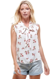 Miley and Molly Women's Floral Tie Neck Blouse Top - Product Mini Image