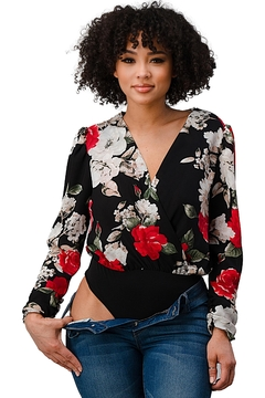 Miley and Molly Wool Dobby Floral Sexy Bodysuit - Product List Image