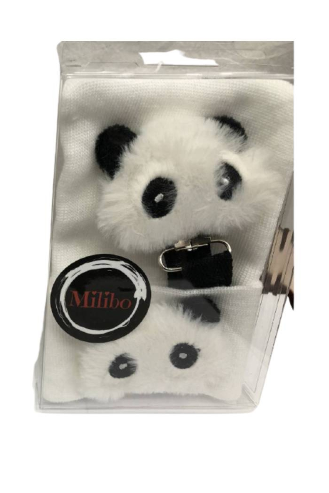 MILIBO Milibo Panda Bear Gift Set For Newborn(Hat + Pacifier Clip) - Front Cropped Image