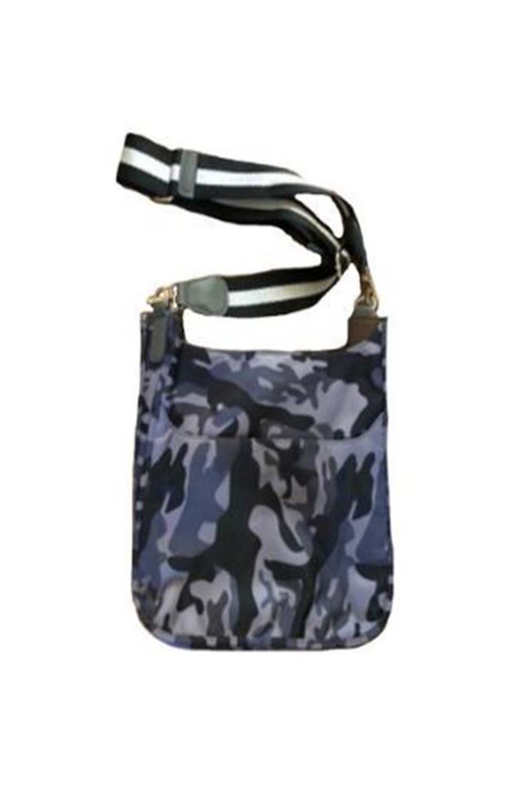 Ah!dorned MILITARY CAMO NYLON MESSENGER W/ARMY BEE STRAP - Front Cropped Image