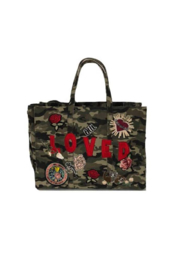 Ah!dorned MILITARY CANVAS PATCH TOTE - Product Mini Image