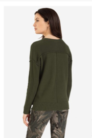Tribal Military Crew Sweater - Front full body