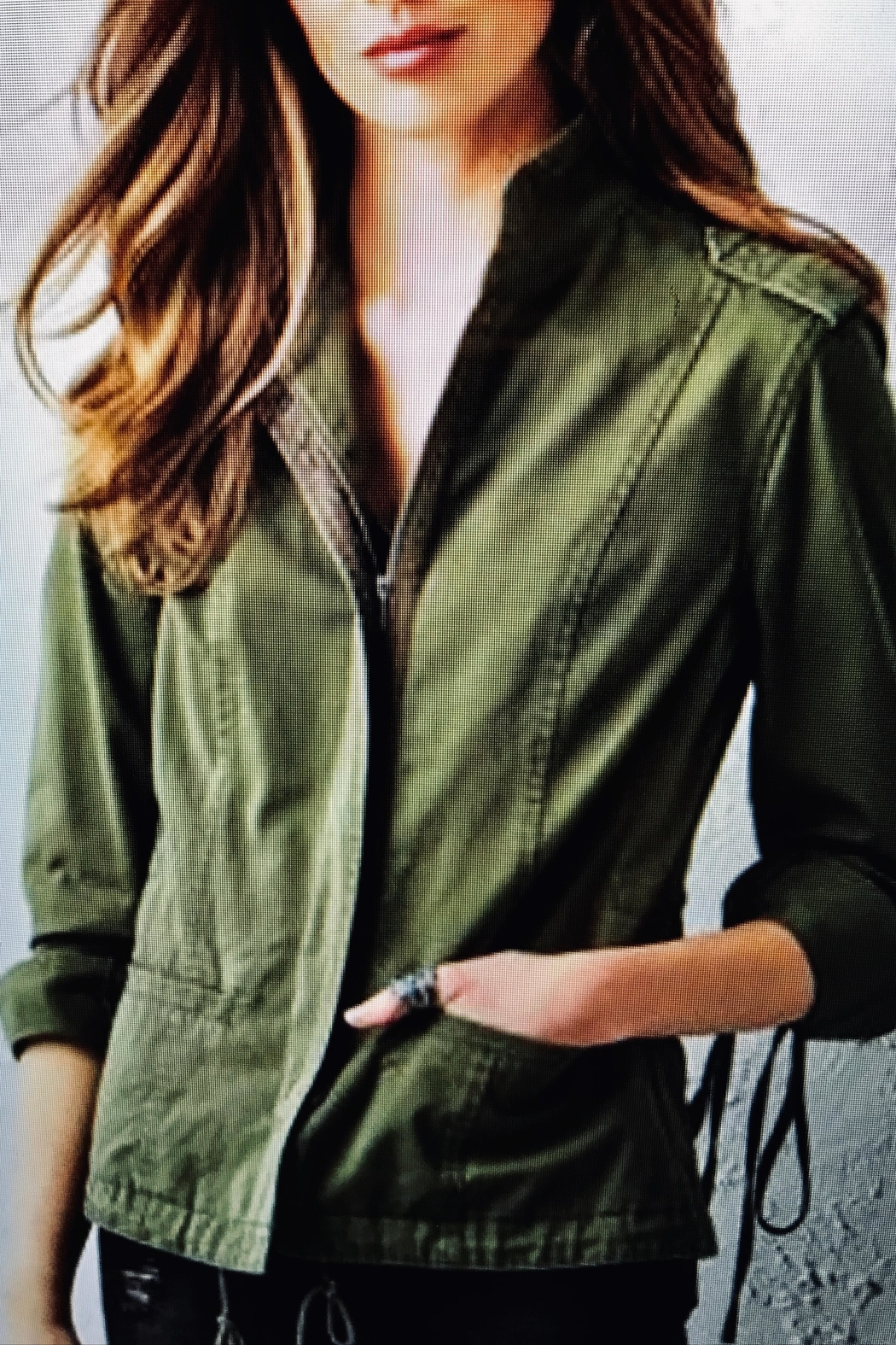 Charlie Paige Military Jacket - Front Cropped Image