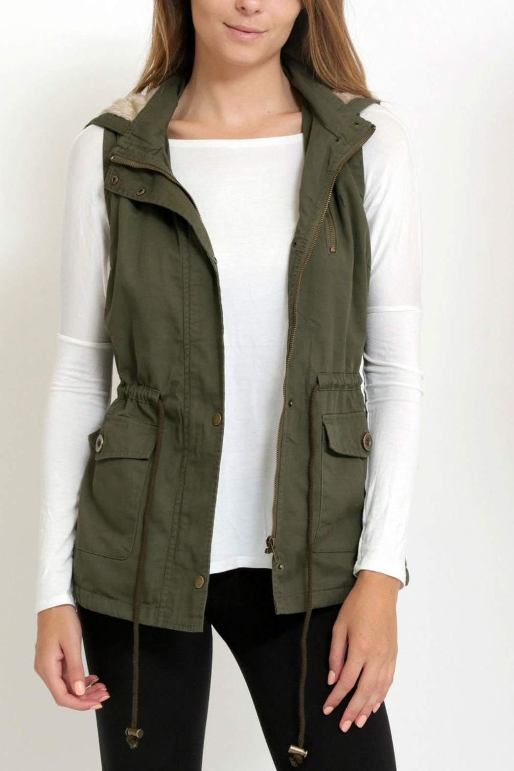 1 Funky Military  Utility  Vest - Back Cropped Image