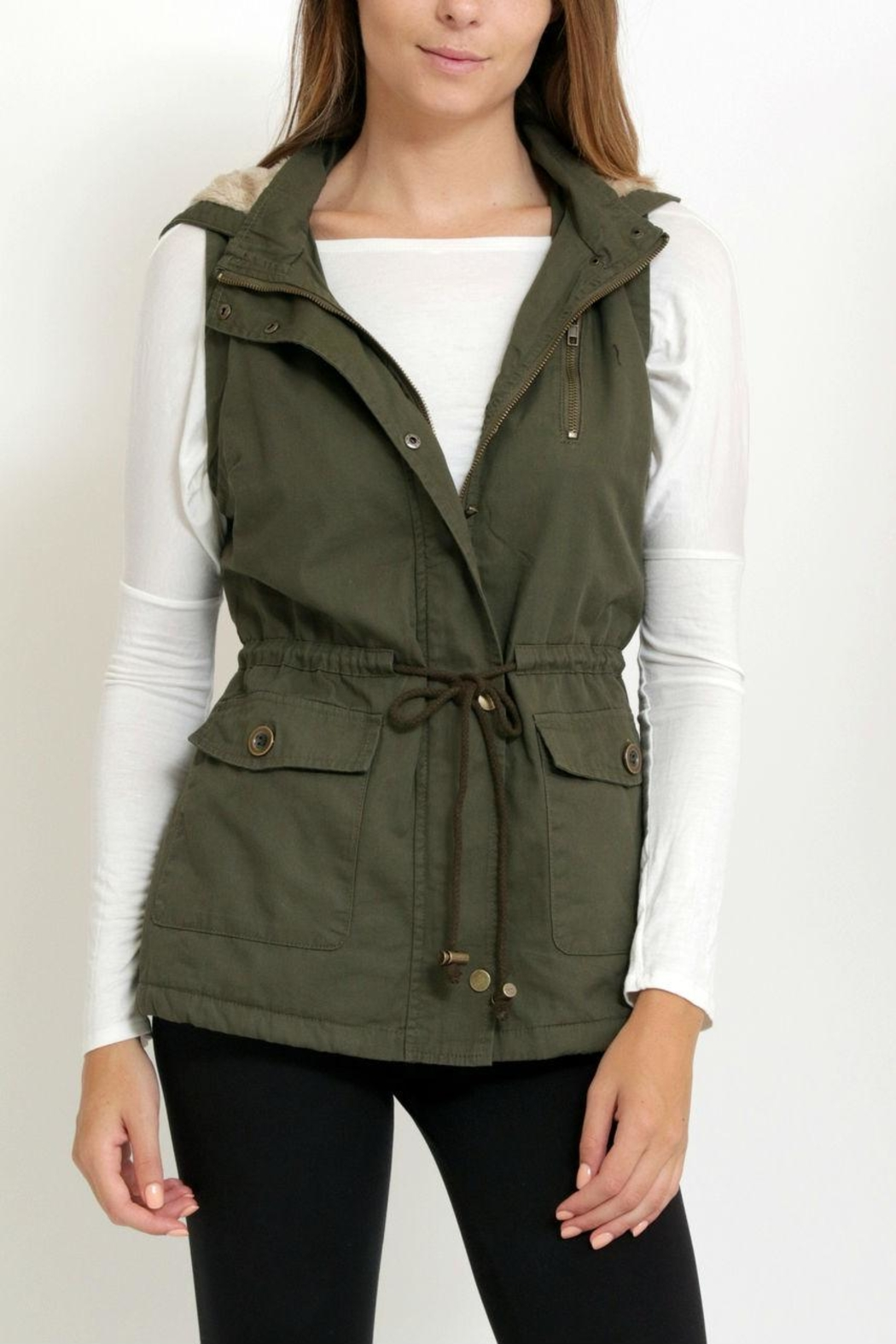 1 Funky Military  Utility  Vest - Front Cropped Image