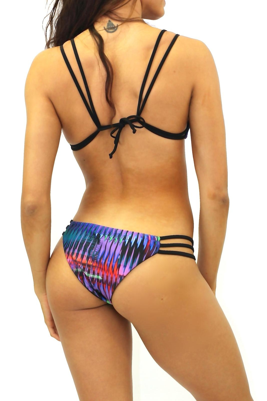 milkbaby bikini Reversible Strappy Bottoms - Front Full Image