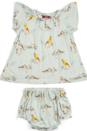 Milkbarn Kids Milkbarn LLC Bambo Dress & Bloomer Set - Product Mini Image