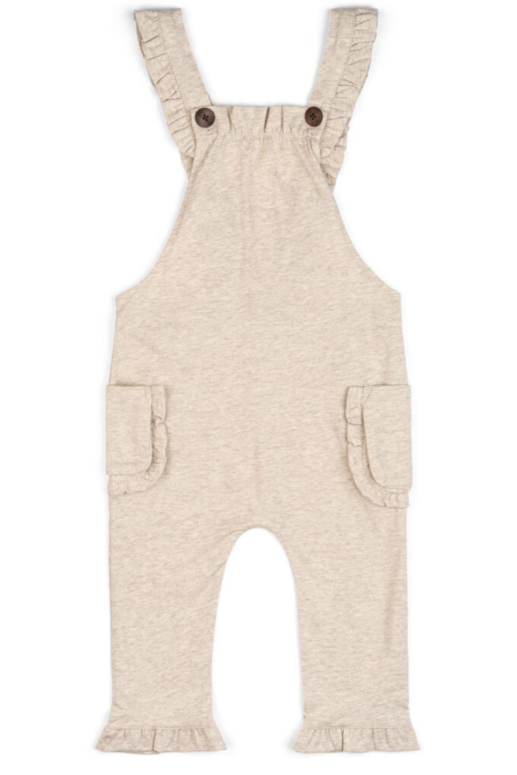 Milkbarn Ruffle Overall - Front Cropped Image