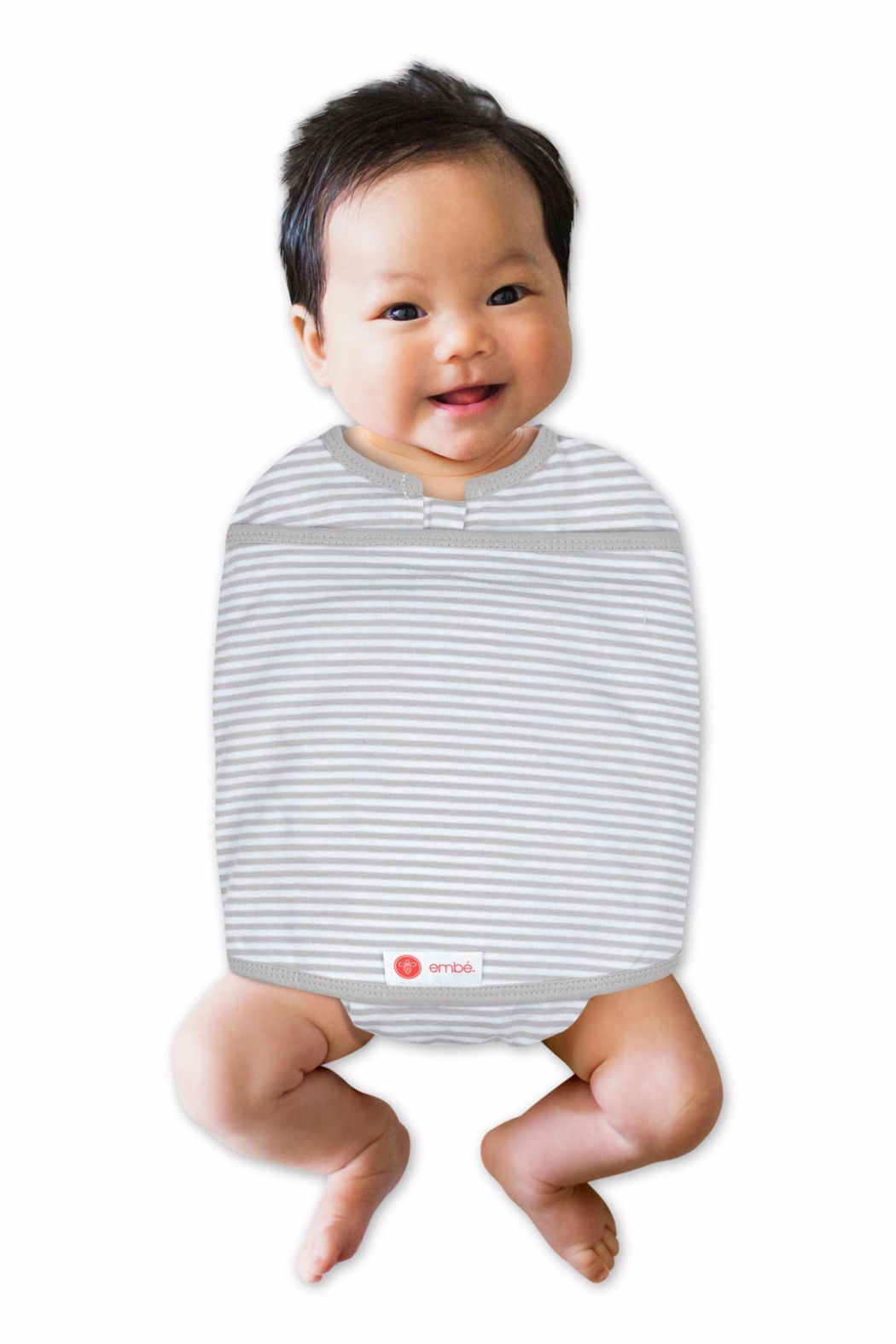 Milkbarn Kids Embe Swaddle Greystripe - Side Cropped Image
