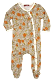Milkbarn Kids Footed Floral Onesie - Product Mini Image